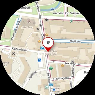 Mapa místa konání